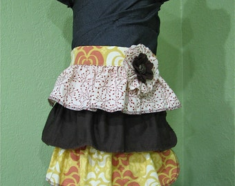 Ruffle Apron - Harvest - Size Child