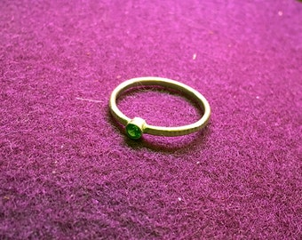 Dainty Green Stone Ring