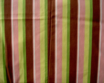 striped 1950s Waverly fabric yardage