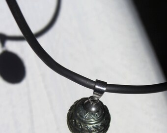 Necklace men pendant engraved Tahitian Pearl - VahineCollection Wahine Collection
