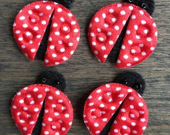 Ladybug Appliques for Making your own Hair Clips