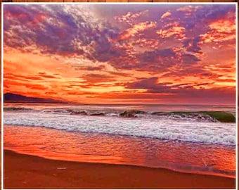 sunset photoshop Beach Wall Art Beach Photography Sunset Print Beach Decor Beach Print Beach Poster Sunset Art Beach Art Modern Beach Art