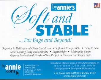 Soft n Stable by Annie's _ SEW IN Foam stabiliser _ Half metre (50cm) lengths x 145cm wide _ Handbag Hardware Australia