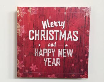 Christmas Canvas Wall Decoration | Merry Christmas | Happy New Year