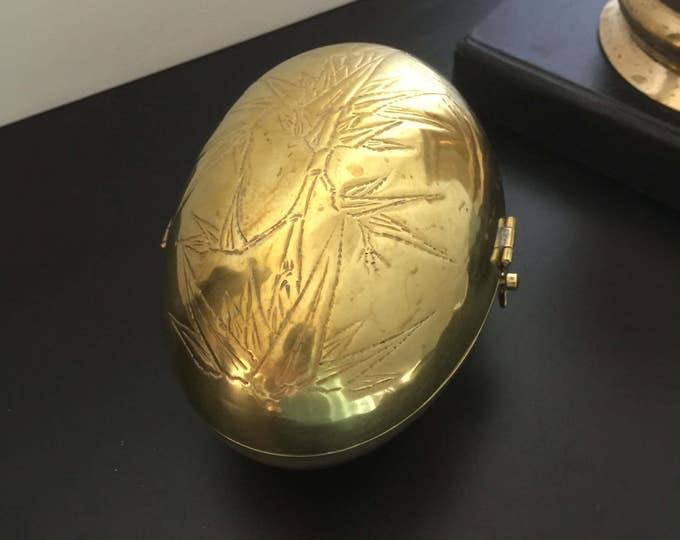 Vintage Oval Brass Box - Bohemian Decor