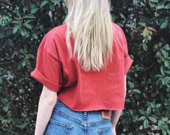 Vintage Levis 514 Denim Shorts / High Waisted Mom Jeans / Size 29
