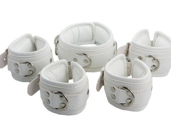 Fightset  white synthetic leather