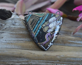 Abstract Porcelain Focal Bead