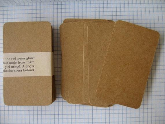 Blank kraft business cardskraft note cardsdiy business like this item reheart Choice Image