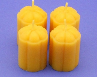 Beeswax Candles, Beeswax Votives, Flower Blossom Candles, Organic Beeswax Candles, Accent Lighting, Table Lighting, Gift For A Friend