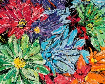 Daisies wall Art,  Modern wall art, Flower power, flower wall art, garden flowers,  Print by Johno Prascak