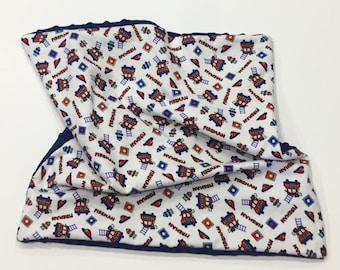 Baby Lovey   Fireman Flannel & Minky Baby Lovey   Security Blanket   Baby Shower Gift