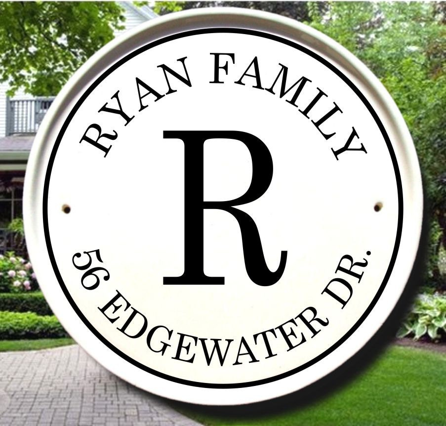 Custom Outdoor Name Sign / Personalized House Sign / Family