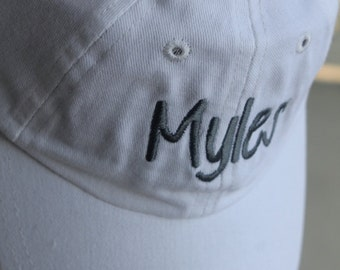 Infant Customized Monogram Personalized Embroidered Infant/Toddler/Youth/Children/Kids Baseball Sports Sun Cap Hat Visor Choose Your Color