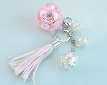 Preserved Rose Keychain