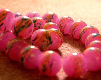 10 trefilee 10 fuchsia - PE206-4 mm glass beads