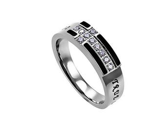 "Black Ensign Ring ""True Love Waits"""