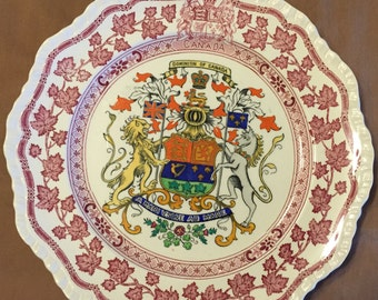 Dominion of Canada Coat of Arms Plate, Marked:  MASON'S