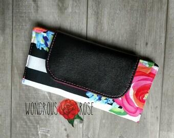 Slimline Wallet Stripes and Floral