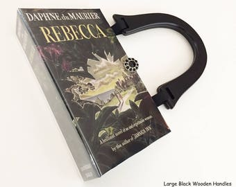 Rebecca Book Purse - Rebecca Recycled Book Clutch - Rebecca Book Cover Handbag - Daphne du Maurier Book Cover Pocketbook