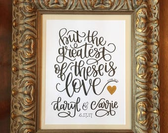 personalized hand lettered wedding gift