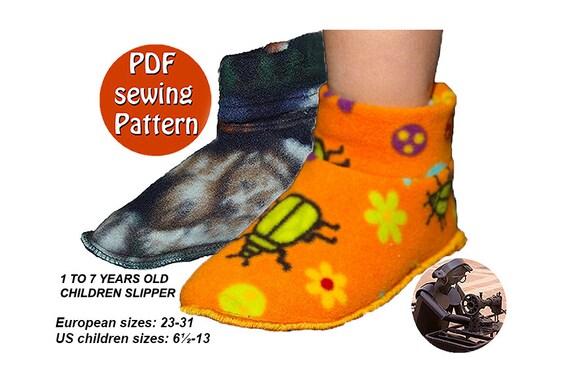Big Kid Slipper Pattern PDF tutorial Instant download sewing pattern ...