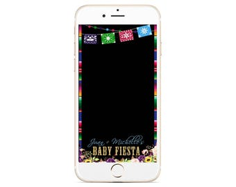 Fiesta Babyshower Snapchat Geofilter - Baby Fiesta - Hispanic Filter - Mexican Snapchat - Cinco De Mayo Snapchat Filter - Florals