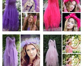 Adult  Fairy Halloween Costume ~ Plus Size  ~ Mardi Gras ~ Theatre ~ Masquerade ~ Renaissance ~ Fairytale Wedding l