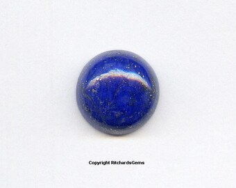 Natural 10 mm Loose Round Cut 3.82ct Blue Lapis Cabochons AAA For ONE