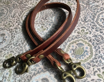 2 Leather Straps for Bracelets or Pursemaking