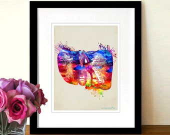 "Watercolor Liver by Christopher Brown, 8.5"" x 11"",Anatomy Medical print,Registered Nurse Gift,Gastroenterologist Gift,Organ art,Doctor gift"