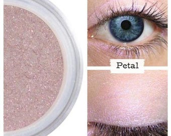 Pale Pink Eye Shadow, Easy To Apply, Pastel Pink Shimmer, Natural Eyeshadow, Long Lasting Color, For Eyes, Vegan Cruelty Free, PETAL