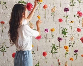 Flower curtains