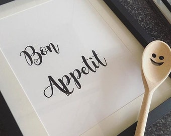 A4 Bon Appetit Kitchen Print (frame not included)