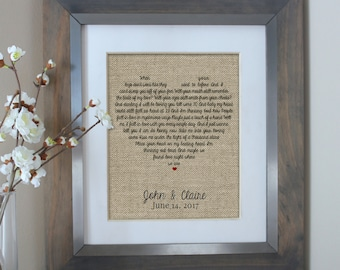 First dance song lyrics personalized wedding st anniversary