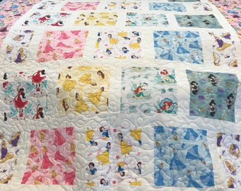 Disney Princess Quilt, custom sizes available