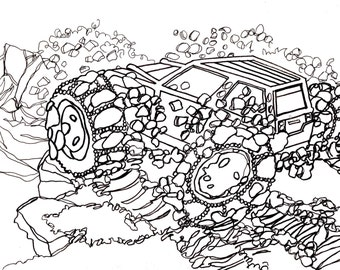 Car coloring book | Etsy