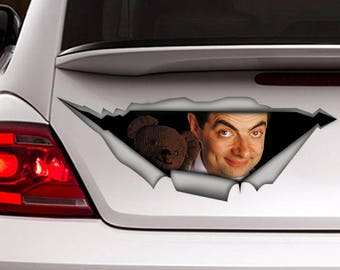 Mister Bin Decal , Car decal, laptop decal, vinyl decal, car decal for man