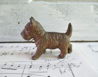 Vintage Metal Terrier Dog
