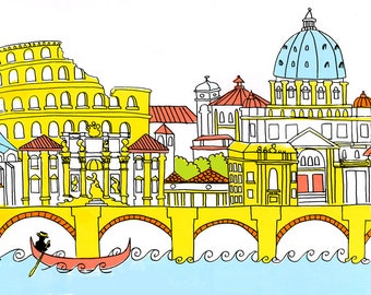 Rome Silkscreen Print