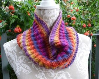 Multi Coloured Pure Wool Neck-warmer  -  1267