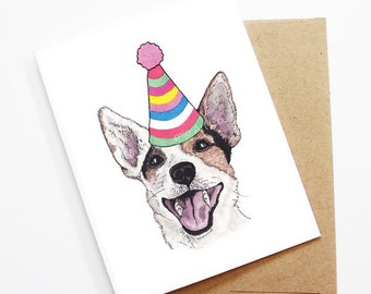 Birthday Card - Jack Russell Terrier, Dog Birthday Card, Cute Birthday Card, Dog Card, Bday Card, Kids Birthday Card, Friend Birthday Card