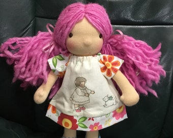 """Little girl and dog, 9-10"""" Waldorf doll clothes"""