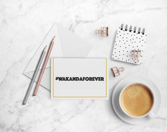 Wakanda Forever Note Card Set, Black Panther-inspired A2 Folded Cards