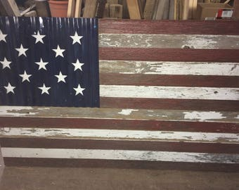 American Flag made from Reclaimed Barn Wood