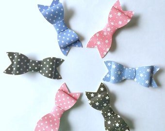 Polka dots and stars bow