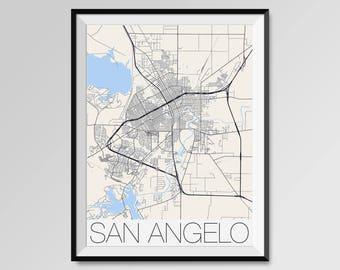 San Jose California Map San Jose City Map Print San Jose Map