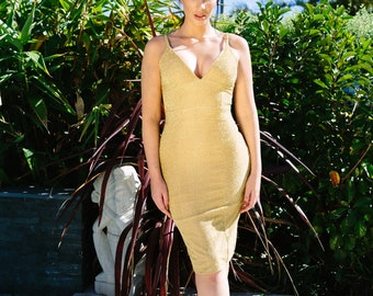 Shimmering Gold Serafina Dress