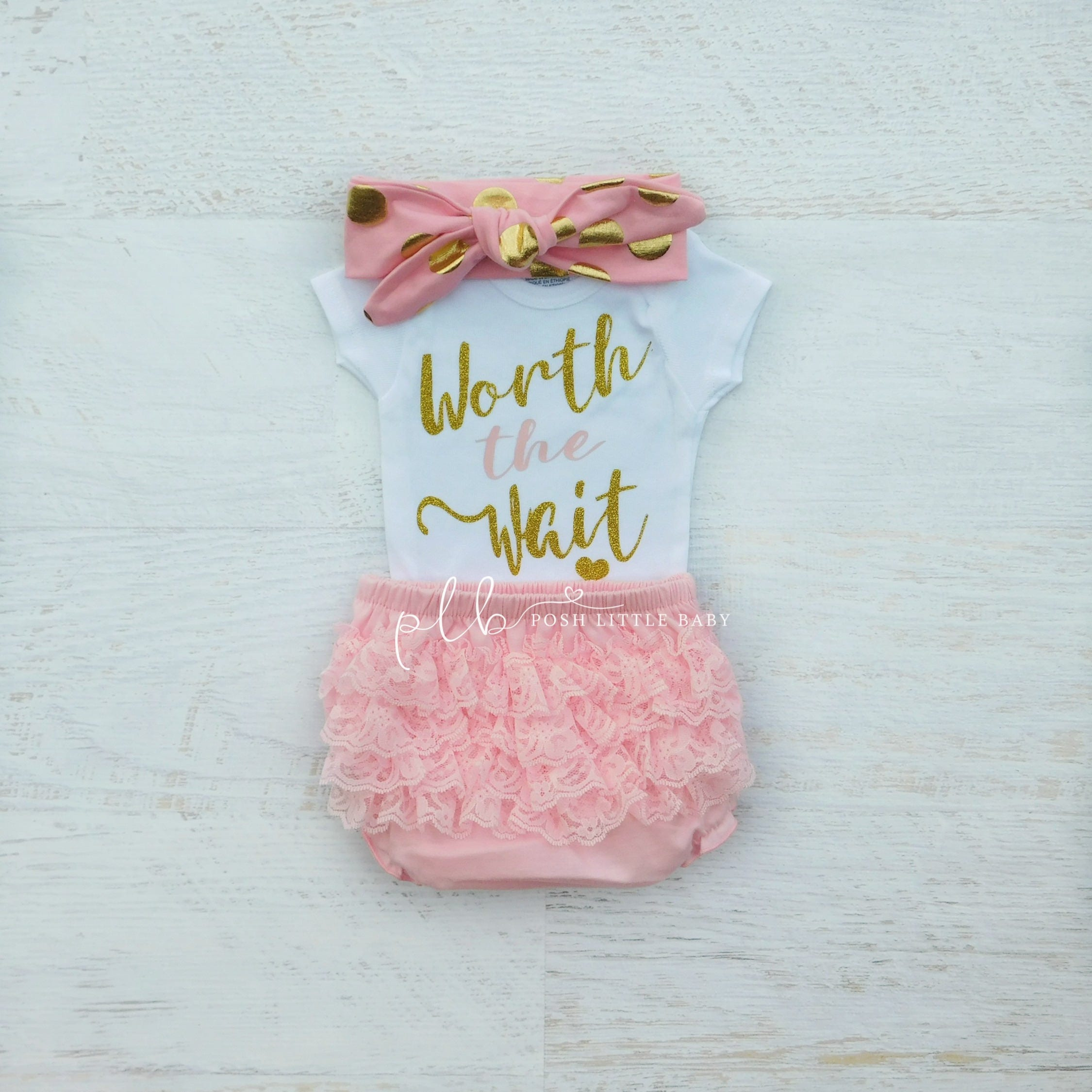 Baby Girl Clothes/ Worth the Wait/ Baby Bodysuit/ Coming Home