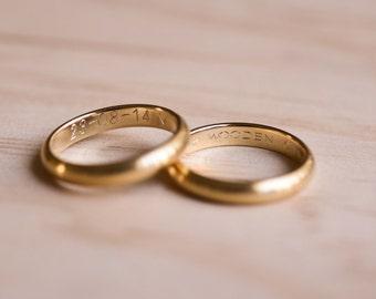 Ring Engraving - Personalised Custom Engraving
